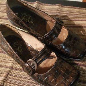Metallic Brown Flats by Life Stride